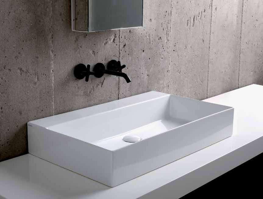 Kaldewei onderbouw wastafels mod met overloop zonder