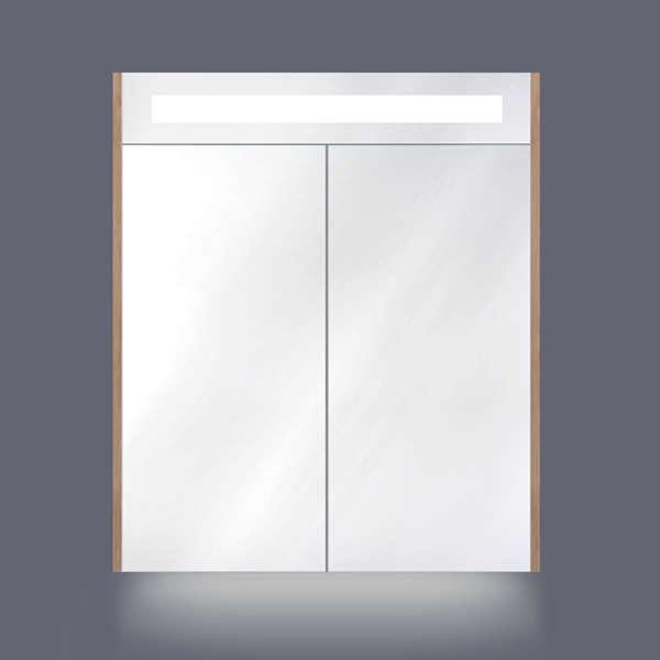 bellanti grivola spiegelkast 60x70cm met horizontale verlichting indirecte led verlichting onderzijde sensorswitch en zijkant olm m9706014