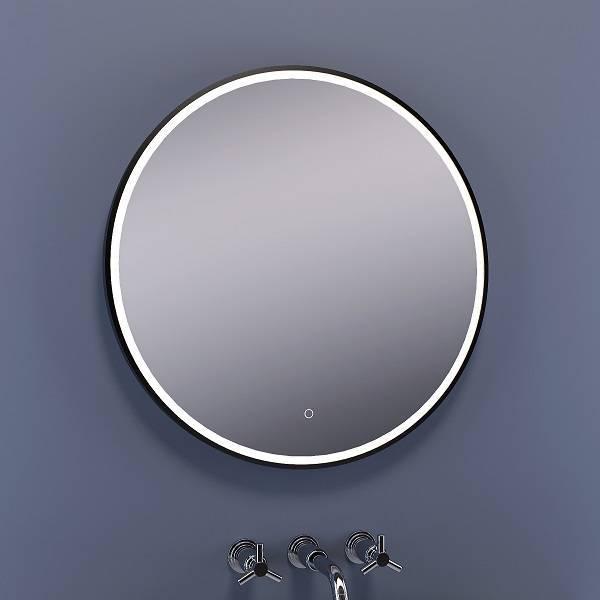 Top Bellanti Arleta ronde spiegel 80cm op mat zwarte omlijsting met KD73