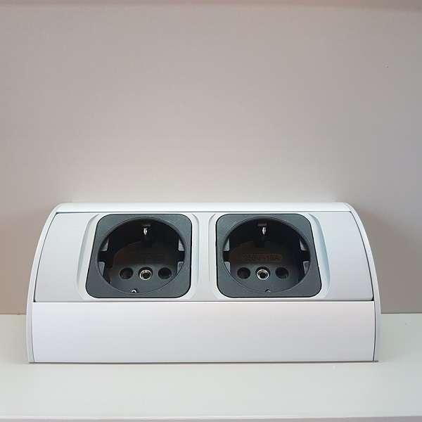 Badkamer Spiegelkast Met Stopcontact.Trisline Dubbel Stopcontact Voor In Spiegelkast Nc L02